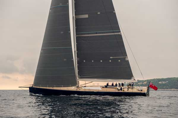 The Wally Cento Magic Carpet3 under sail