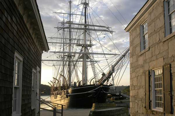 The Charles W. Morgan is the last of an American whaling fleet that numbered more than 2,700 vessels. Built and launched in 1841, the Morgan is now America's oldest commercial ship still afloat – only the USS Constitution is older.