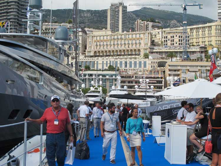 The Monaco Yacht Show as seen today